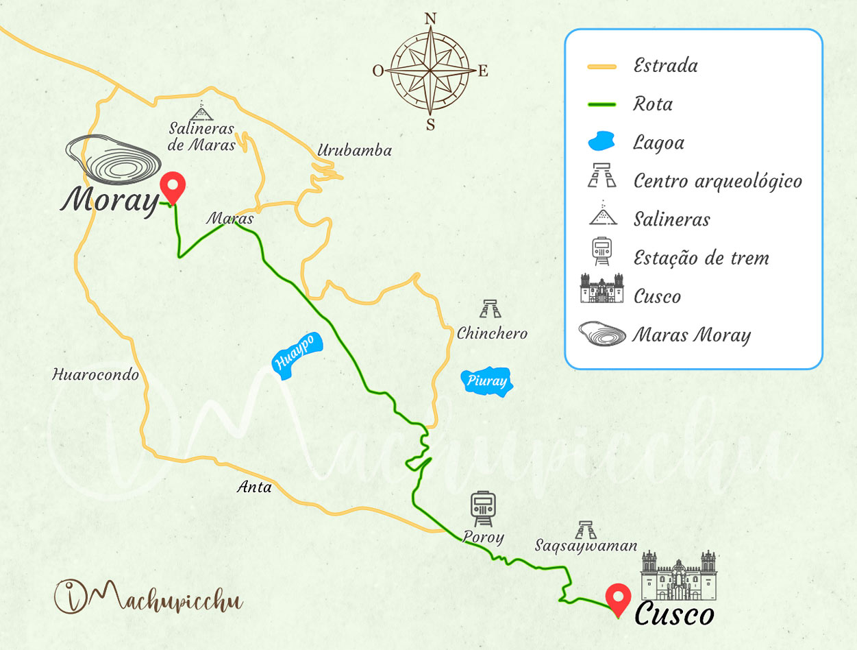Mapa para chegar a Moray