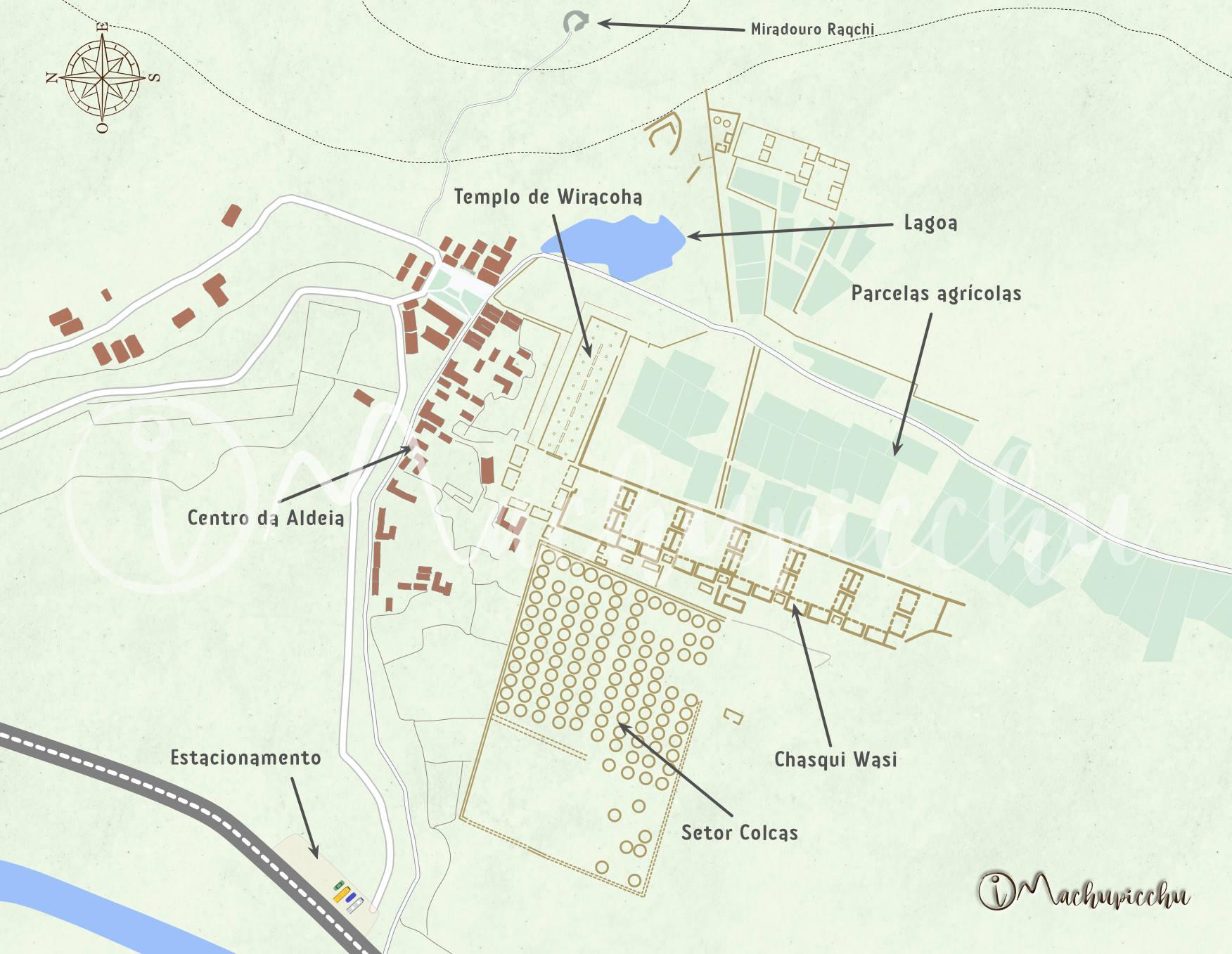 Mapa de Raqchi